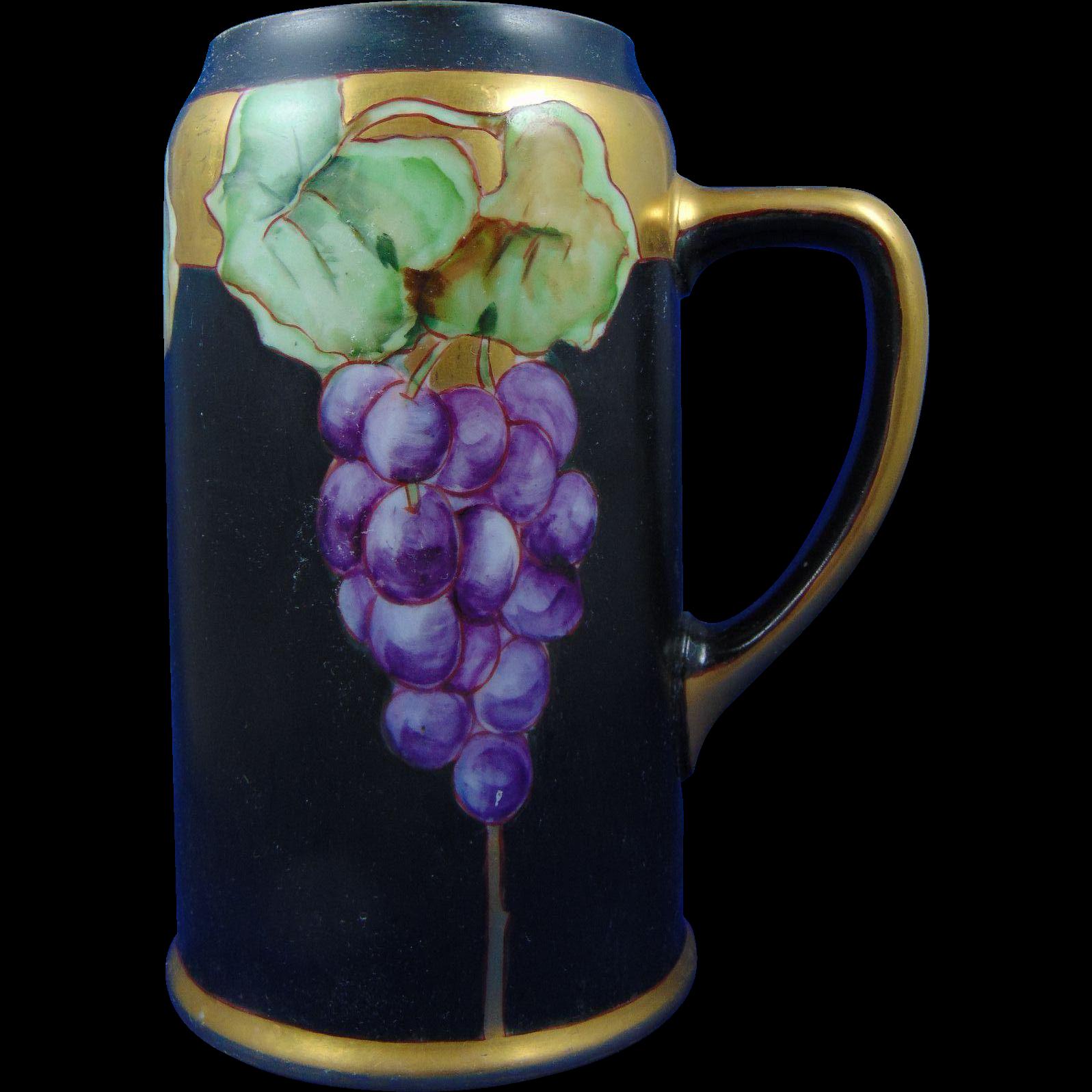 Moritz Zdekauer (MZ) Austria Grape Motif Stein/Mug (c.1884-1909)