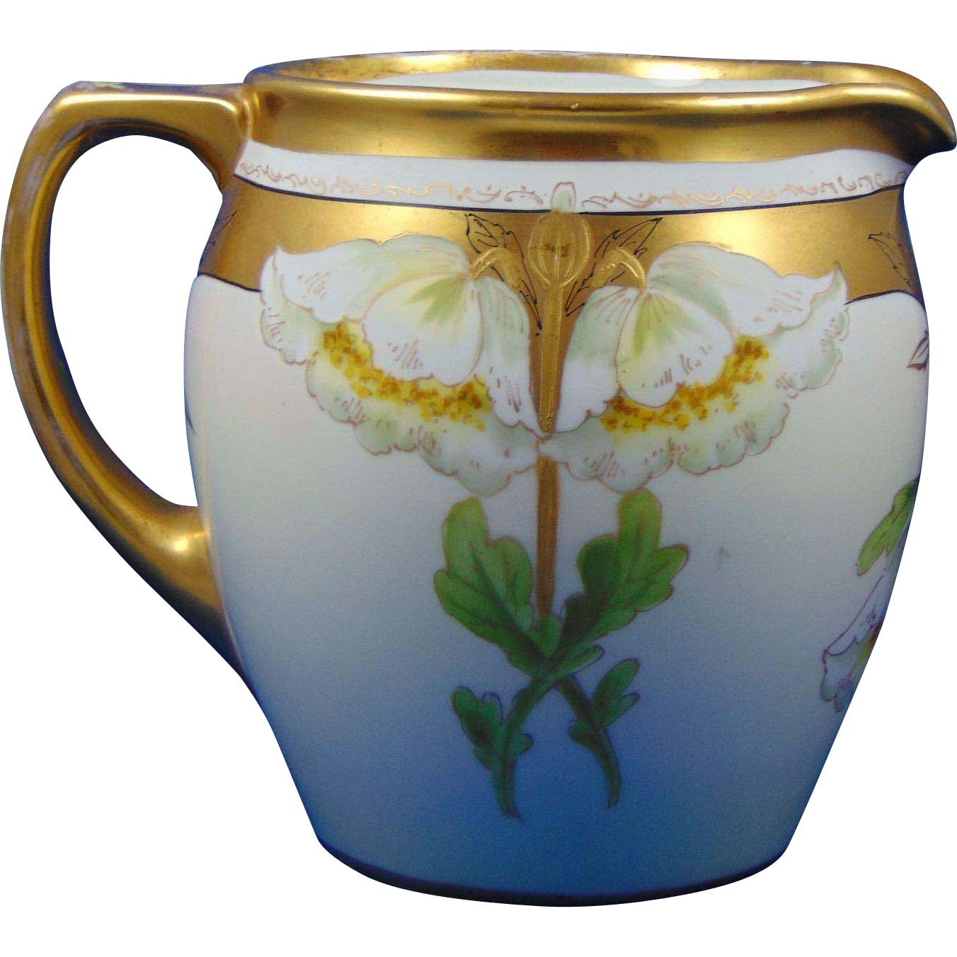 "Pickard Studios ""Primavera"" Design Pitcher (Signed ""Walt"" for Frederick Walters/c.1912-1918)"