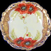 "Rosenthal Bavaria Pickard Studio ""Twin Poppy"" Design Dish (Signed ""Loh"" for John Loh/c.1905-1910)"