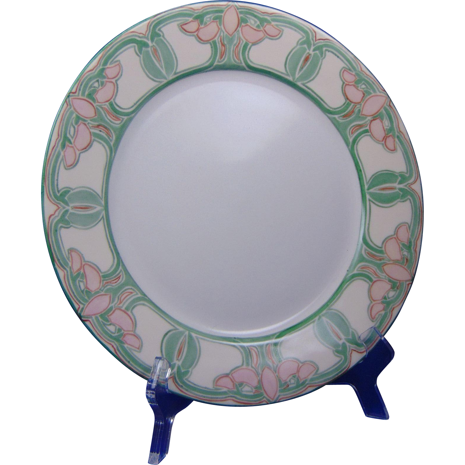 "Gerard, Dufraisseix & Abbott (GDA) Haviland Limoges Arts & Crafts Floral Motif Plate (Signed ""Mabel C. Farren""/Dated 1907)"
