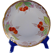 "Jaeger & Co. (JC) Bavaria Julius H. Brauer Studio Cherry Design Plate (Signed ""Bachman""/c.1905-1910)"