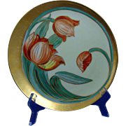 Haviland Limoges Pickard Studios Tulip Design Plate (c.1905-1910) - Red Tag Sale Item
