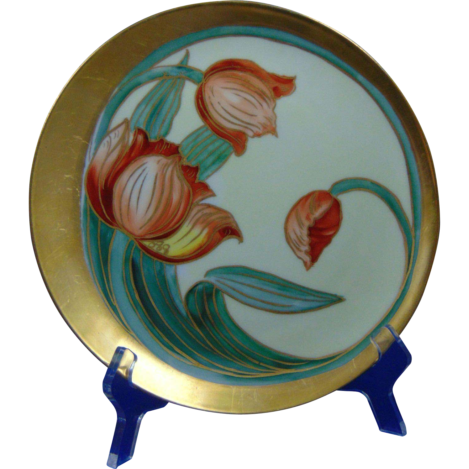 Haviland Limoges Pickard Studios Tulip Design Plate (c.1905-1910)