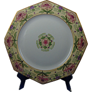 "Czecho-Slovakia Arts & Crafts Floral Motif Charger/Plate (Signed ""A. Rayton""/Dated 1926)"