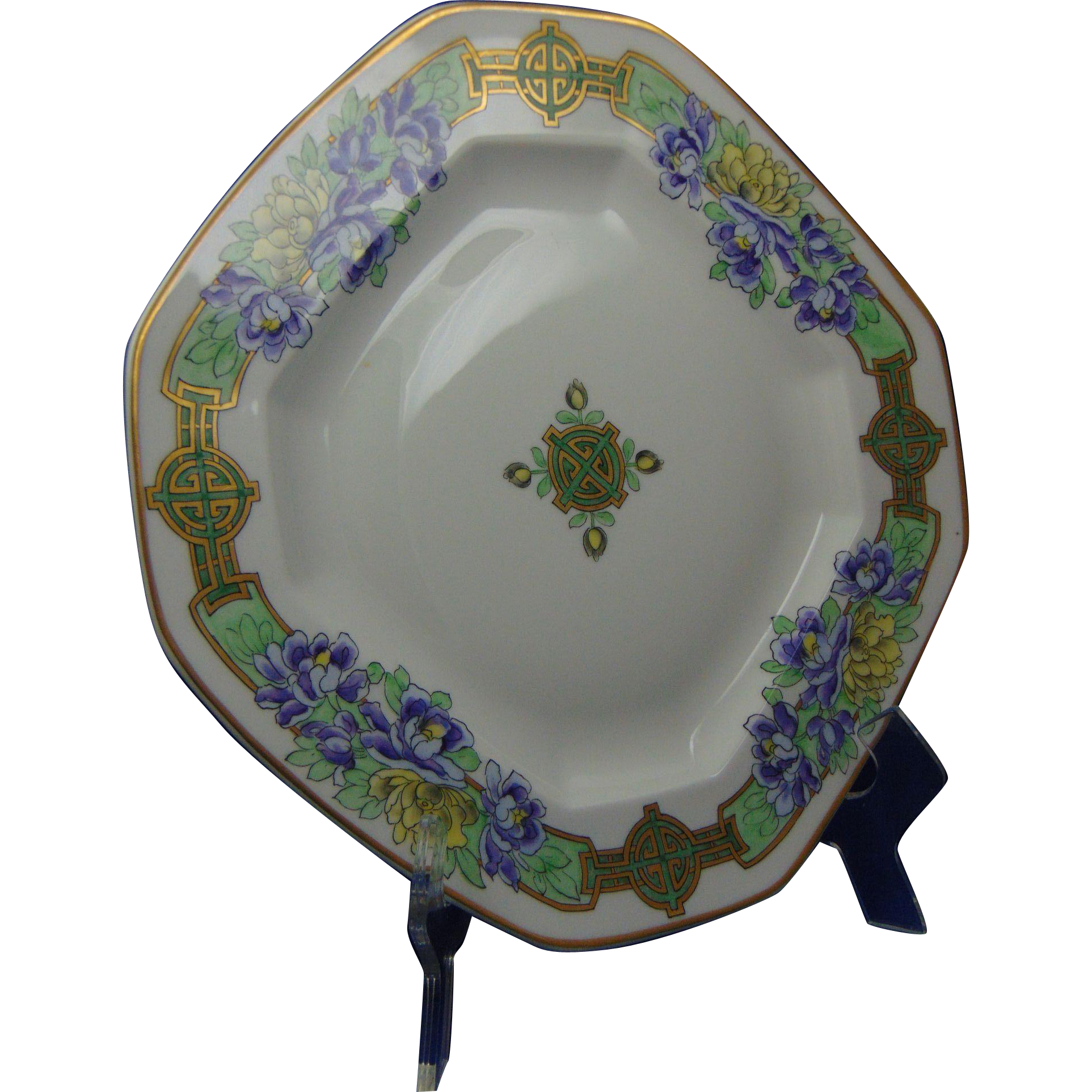 Delinieres & Co. (D&Co.) Limoges Pickard Studios Chinese Peonies Design Charger/Plate (c.1905-1910)