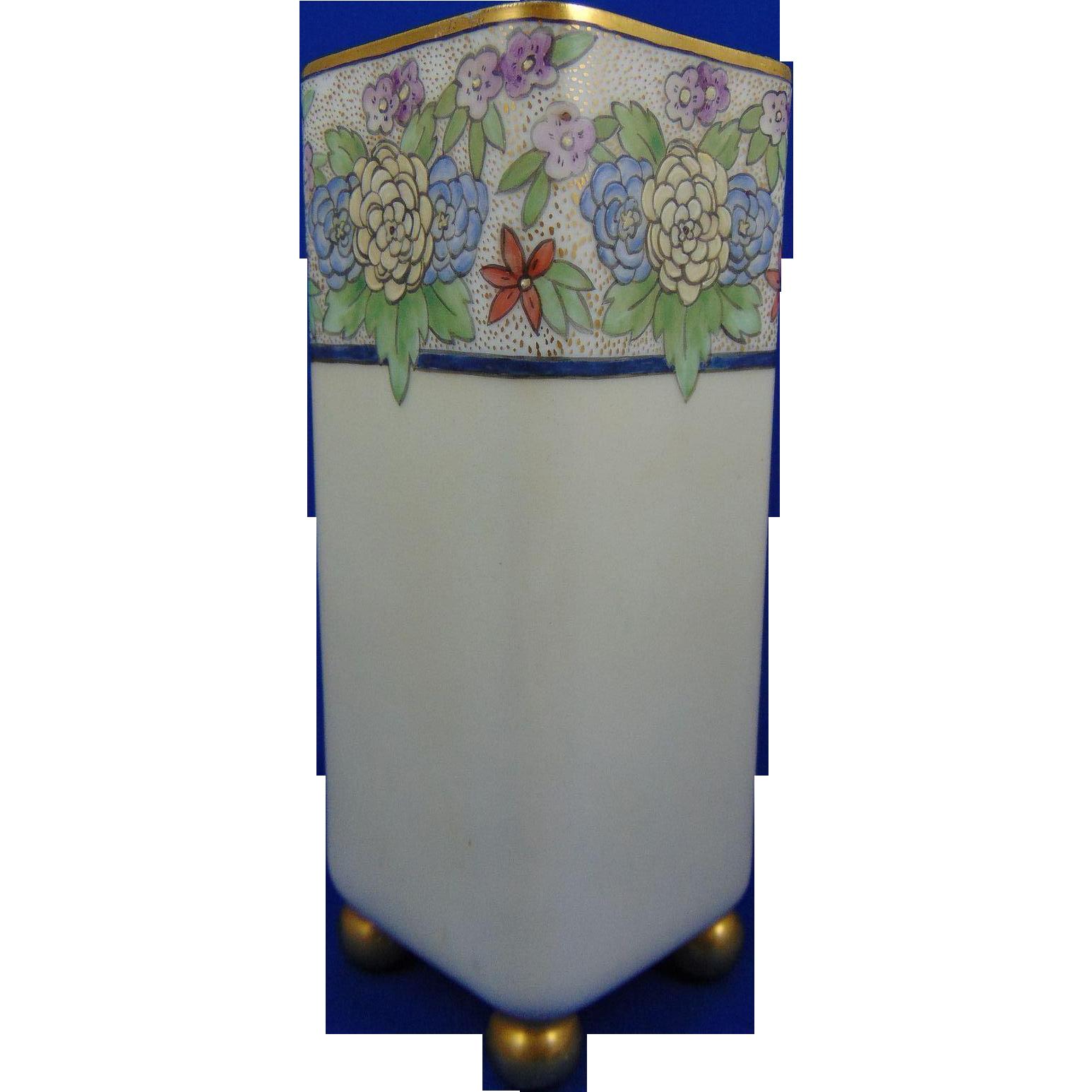 Fischer & Mieg Pirkenhammer Austria Arts & Crafts Enameled Floral Design Vase (c.1873-1918)
