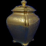 Etched Gold Lotus Blossom Incense/Potpourri Holder (c.1920-1930)