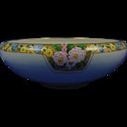 Willets Belleek Arts & Crafts Enameled Floral Design Bowl (c.1880-1904)