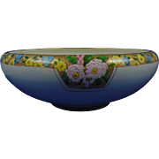 Willets Belleek Arts & Crafts Enameled Floral Design Bowl (c.1880-1904)