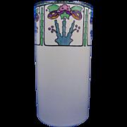 "Noritake Nippon American Arts & Crafts Floral Design Vase (Signed ""M. McCormick""/c.1922-1930) - Keramic Studio Design"