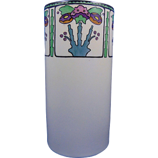 "Noritake Nippon American Arts & Crafts Floral Design Vase (Signed ""M. McCormick""/c.1910-1920)"
