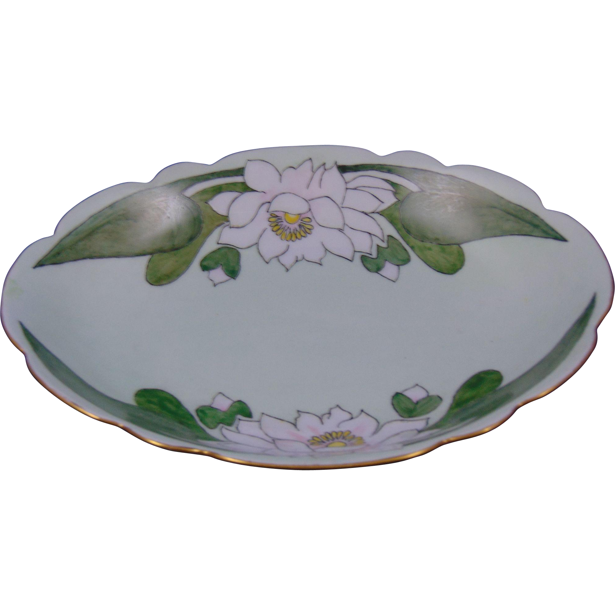 "Favorite Bavaria Arts & Crafts Lotus Blossom Motif Bowl (Signed ""J.M.H.""/Dated 1915)"