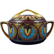 "Rosenthal Bavaria Donatello Arts & Crafts Biscuit Jar (Signed ""M.A. Drummond""/c.1907-1940)"