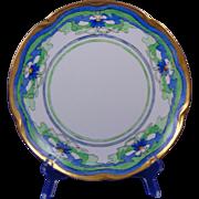 Jaeger & Co. Bavaria Arts & Crafts Floral Motif Plate (Signed/c.1909-1930)