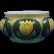 "Gerard, Dufraisseix & Abbott (GDA) Limoges Arts & Crafts Tulip Motif Vase/Planter (Signed ""E.L. Koch""/c.1900-1941)"