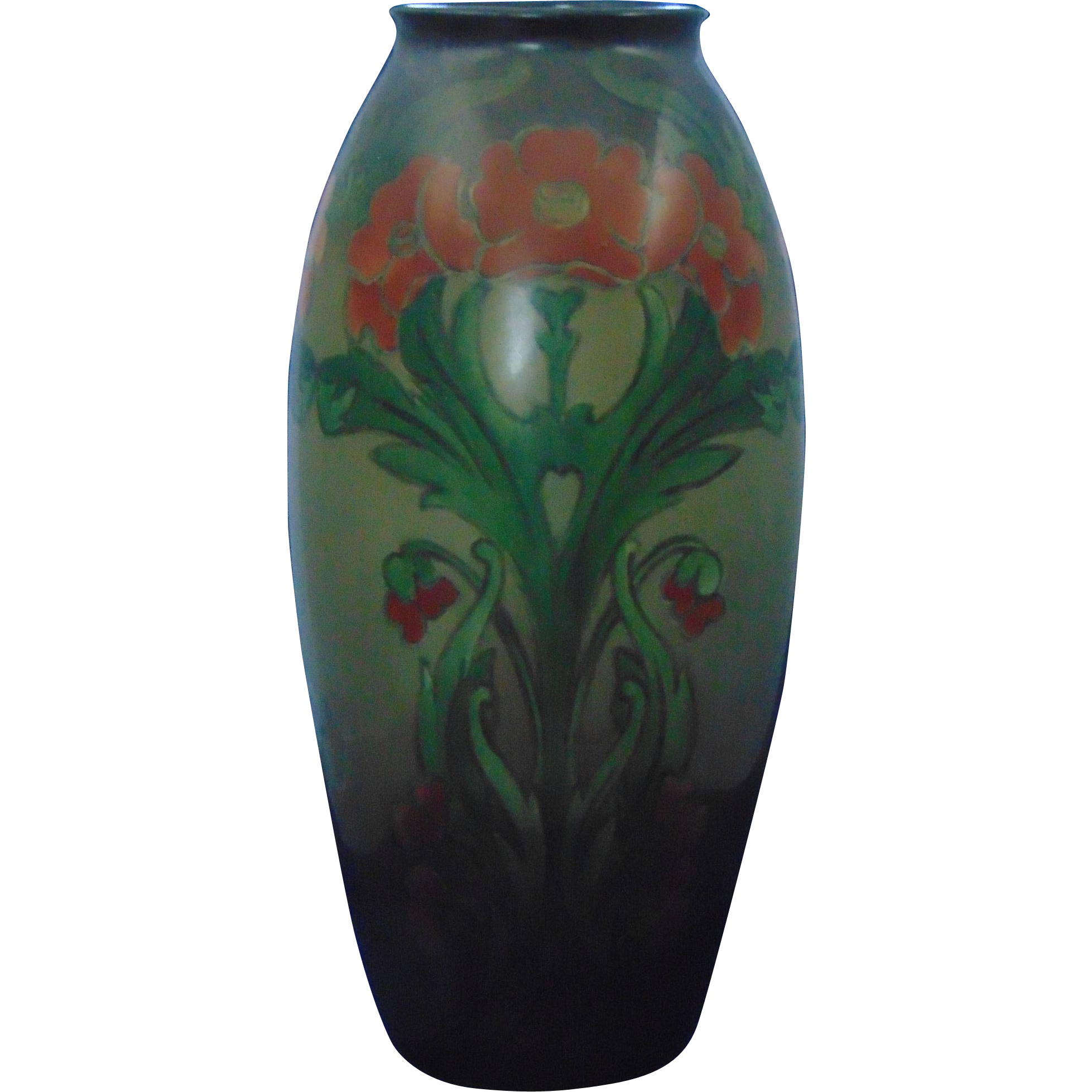 Lenox Belleek Arts & Crafts Poppy Design Vase (c.1906-1924)