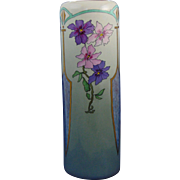 TK Czechoslovakia Arts & Crafts Purple & Pink Floral Motif Vase (c.1918-1936)