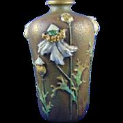 Amphora Austria Enameled Poppy Design Vase (c.1893-1910)