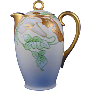 Thomas Bavaria Arts & Crafts Calla Lily Motif Coffee Pot (c.1908-1930)