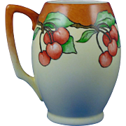 "Bavaria Arts & Crafts Cherry Motif Tankard/Mug (Signed ""L. Phipps""/c.1910-1930)"