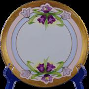 Jaeger & Co. (J&C) Bavaria Stouffer Studio Purple Floral Plate (c.1906-1914)