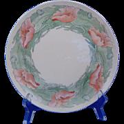 Haviland Limoges Arts & Crafts Poppy Motif Plate (Signed/c.1894-1931)