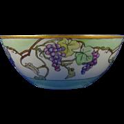 Bernardaud & Co. (B&Co.) Limoges Arts & Crafts Grape Motif Bowl (c.1900-1914)