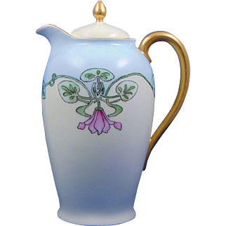 Jaeger & Co. (JC) Bavaria Arts & Crafts Floral Design Coffee Pot (c.1902-1935)