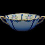 Bernardaud & Co. (B&Co.) Limoges Arts & Crafts Floral Design Bowl (c.1914-1930) - Keramic Studio Design