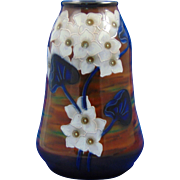 Royal Bonn Germany Arts & Crafts Tube-Lined White Floral Motif Vase (c.1899-1923)