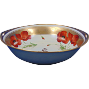 "Rosenthal Selb Bavaria Pickard Studios ""Poppy Iridescent"" Design Bowl (Signed ""Fuchs"" for John Fuchs/c.1905-1910)"