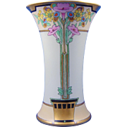 "Thomas Bavaria Arts & Crafts Floral Motif Vase (Signed ""Ada""/Dated 1925)"