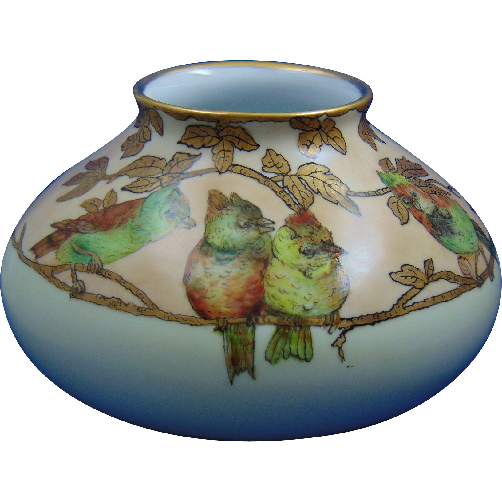 Pfeiffer & Lowenstein (P&L) Austria Arts & Crafts Bird Motif Vase (c.1914-1918)