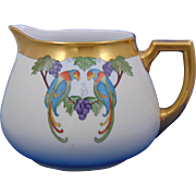 Zeh Scherzer & Co. (ZS&Co.) Arts & Crafts Parrot & Grapes Motif Pitcher (c.1880-1930)
