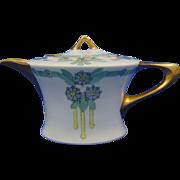W&J Cacilie Bavaria Arts & Crafts Floral Teapot (c.1910-1930)