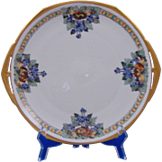 "Moritz Zdekauer (MZ) Austria Arts & Crafts Enameled Fruit Motif Plate (Signed ""M. Graham""/c.1884-1909)"