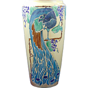 Bernardaud & Co. (B&Co.) Limoges Arts & Crafts Peacock & Grapes Motif Vase (c.1900-1914)