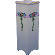 "Epiag Czechoslovakia Arts & Crafts Floral Motif Vase (Signed ""Agnes Roth""/c.1920-1939)"