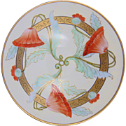 Pirkenhammer Titanic Austria Radiating Poppy Design Bowl (c.1873-1918)