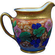 "Moritz Zdekauer (MZ) Altrohlau Czechoslovakia Blackberry Motif Pitcher (Signed ""I.M.""/Dated 1932)"