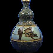 Amphora Austria Sparrow Motif Vase (c.1893-1910)