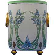 "William Guerin (WG&Co.) Limoges Arts & Crafts Floral ""Spiderwort"" Design Cachepot/Vase (c.1918-1932)"