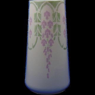 "Lenox Belleek Arts & Crafts Wisteria Design Vase (Signed ""Ruth Steimley""/Dated 1917)"