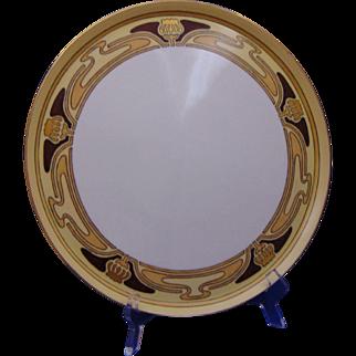 Porcelain Blank Arts & Crafts Floral Design Tray (c.1910-1930)