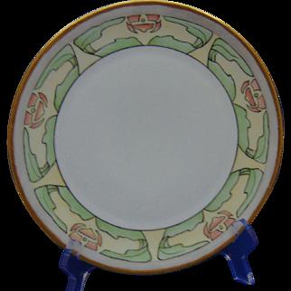 Bavaria Arts & Crafts Pink Floral Design Plate (c.1910-1930)