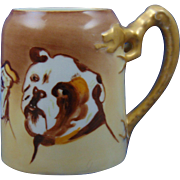 "Bavaria Arts & Crafts Bulldog Motif Mug/Tankard (Signed ""B. Johnson""/c.1910-1930)"