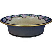 "American Satsuma Enameled Floral Design Bowl (Signed ""E. McLane""/Dated 1922)"