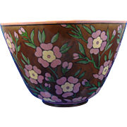 "Lenox Belleek Arts & Crafts Floral Lustre Design Bowl (Signed ""Maude E. Nutter""/c.1906-1924)"