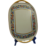 "Haviland Limoges Arts & Crafts Enameled Floral Motif Tray (Signed ""B. Ibsen""/Dated 1917)"