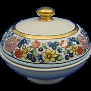 Gerard, Duffraisseix & Abbott (GDA) Limoges Arts & Crafts Enameled Floral Trinket Dish (c.1917)